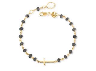 Beaded Gemstone Cross Charm Bracelet Jewellery Blog