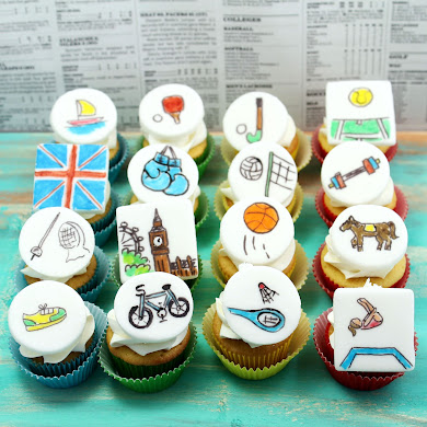 Olympic Sports Cupcakes Recipe