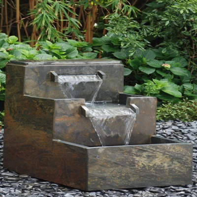 Home decor homemade water fountain for unique small for Japanese water feature ideas