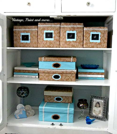 Vintage, Paint and more... decorative boxes, paper covered  boxes, diy decorative boxes, storage boxes from recycled boxes