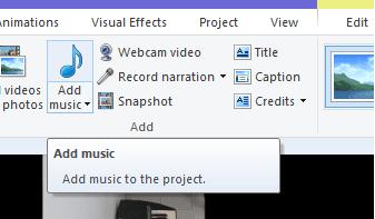 cara menambah lagu di dalam video movie maker