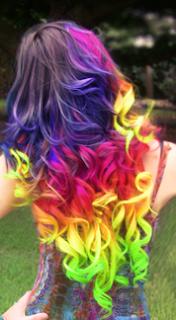 mechas californianas arcoiris