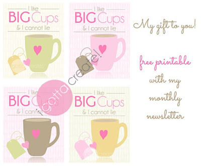 I like Big Cups printable and creativity challenge by I Gotta Create! | Visit blog for the rules.