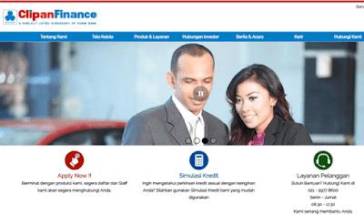 untuk apply, simulasi kredit, layanan pelangan, informasi contak, alamat kantor cabang clipan finance