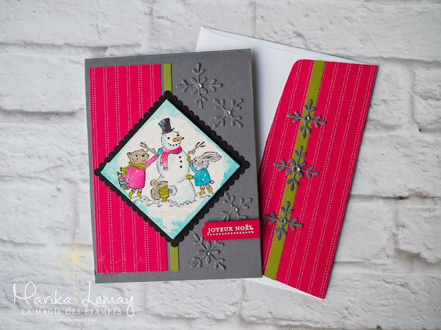 carte de Noël avec le jeu Mistltoe Friends Stampin' Up!