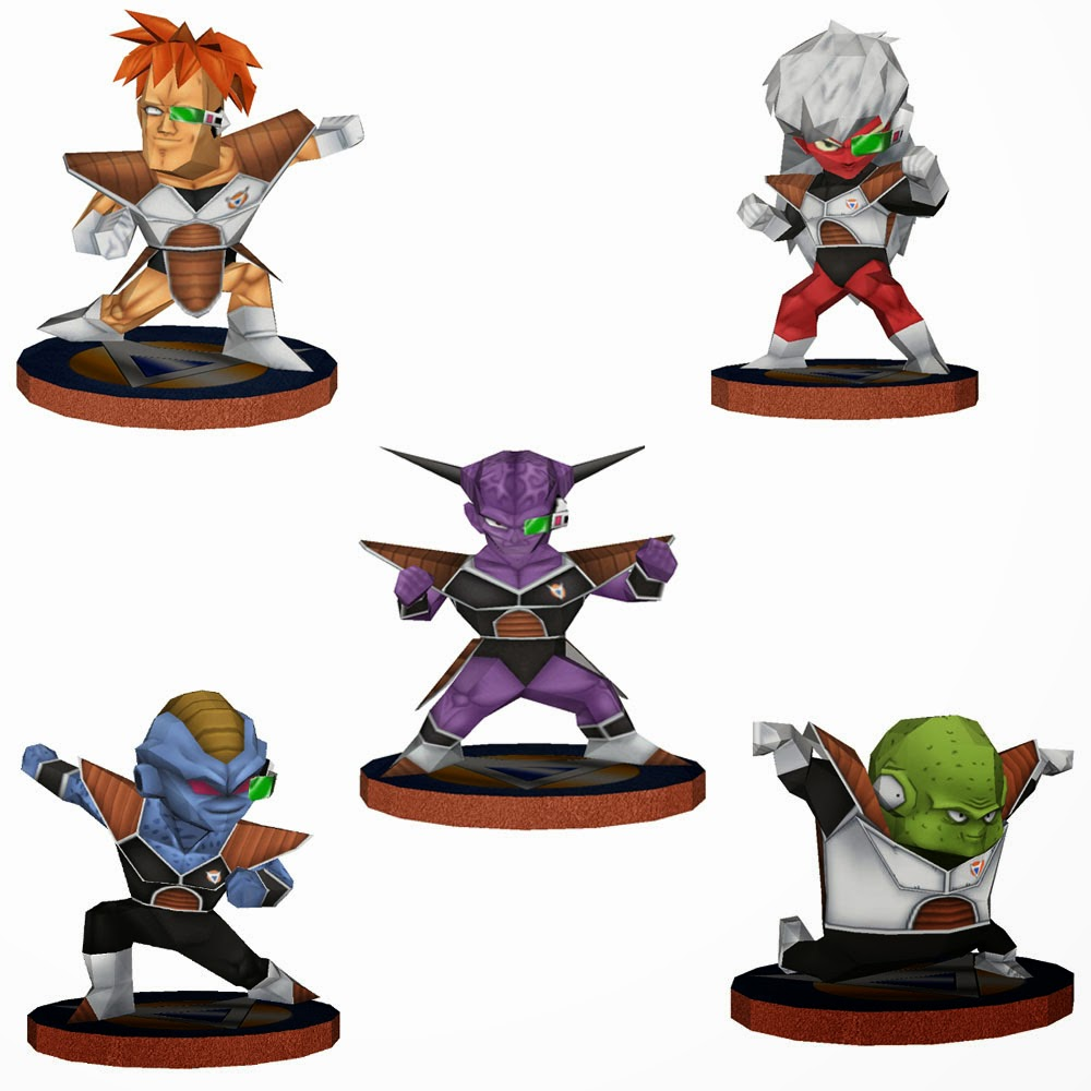 Ginyu Force Papercraft