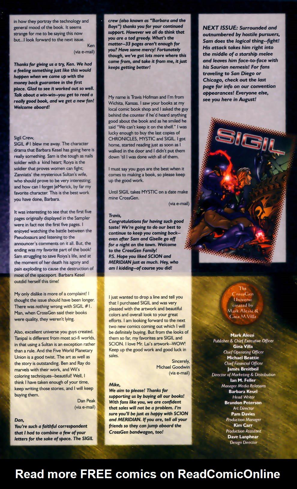Read online Sigil (2000) comic -  Issue #2 - 27