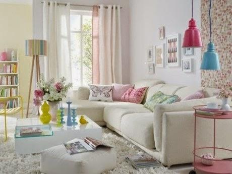 sala de estar primaveral