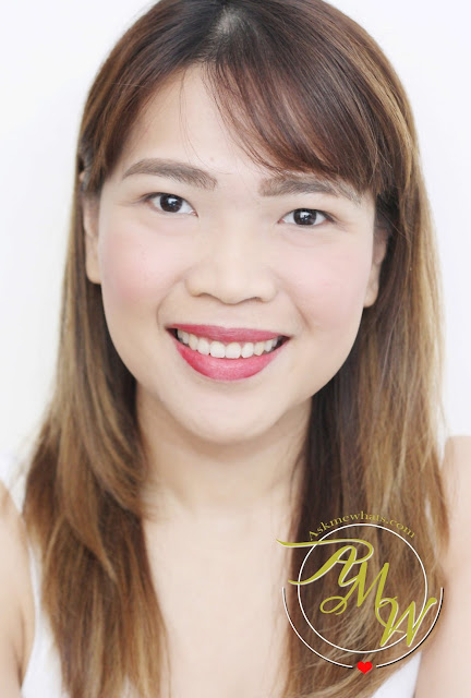 a photo of askmewhats Nikki Tiu wearing Benefit Gogo Tint on lips and cheeks
