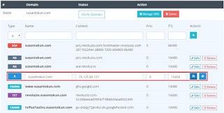 Setting domain agar bisa diakses tanpa www