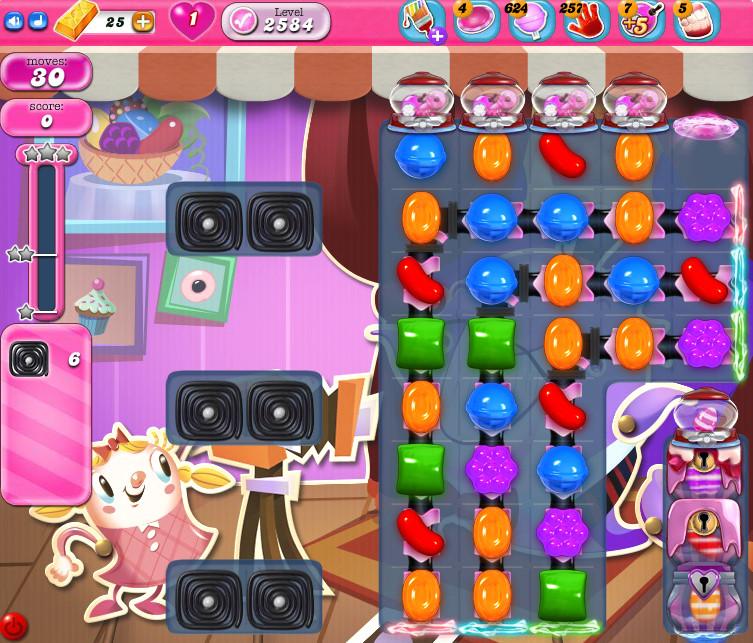Candy Crush Saga level 2584