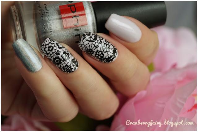 eleganckie paznokcie, koronka