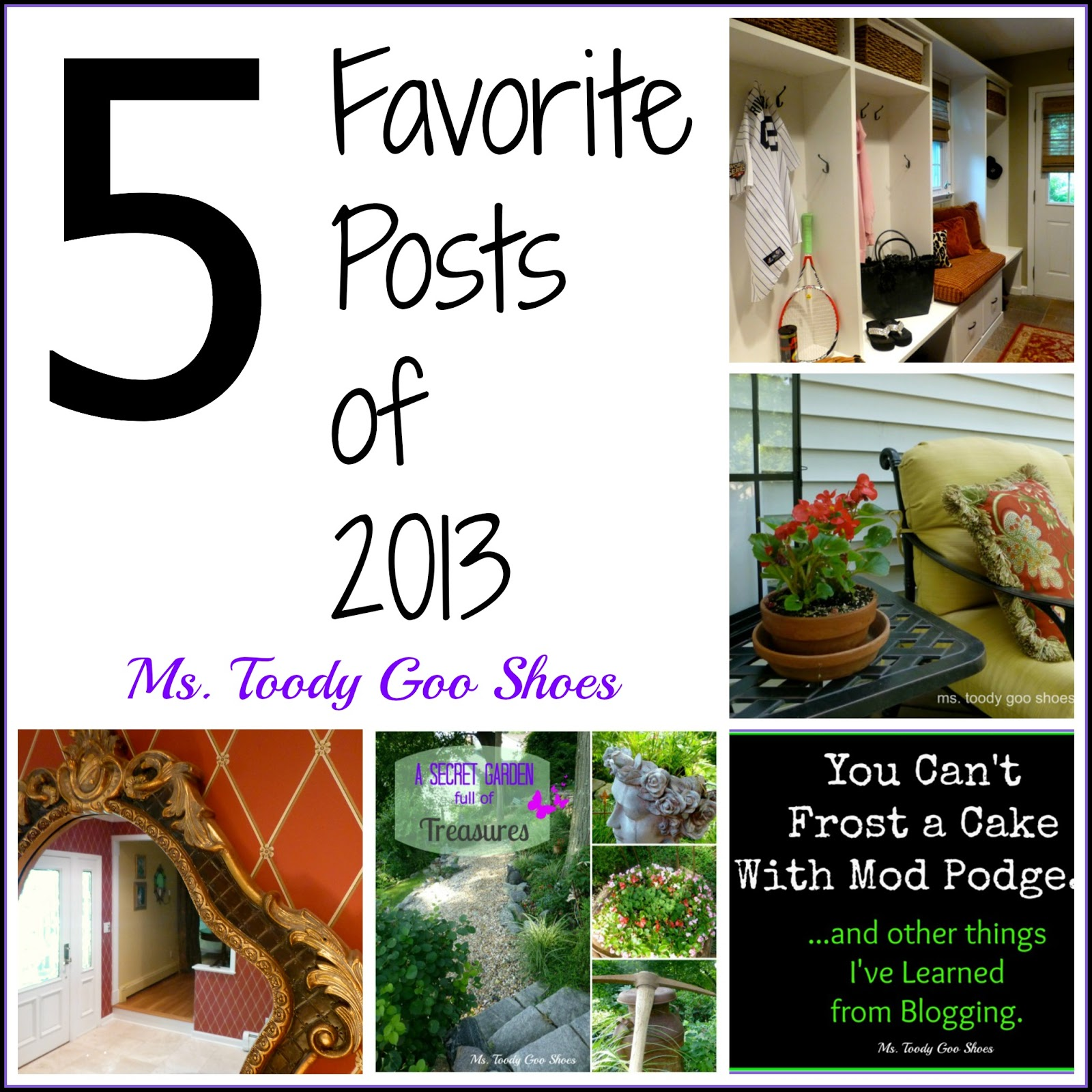 Five Favorite Posts of 2013 --- Ms. Toody Goo Shoes