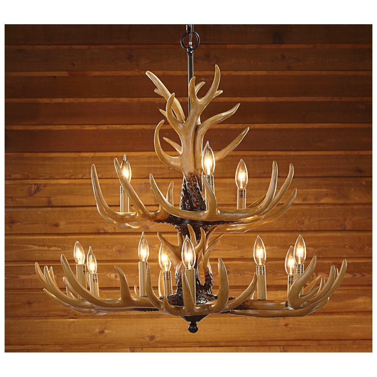 Rustic lodge log cabin themed bedding sets cabinlodge style decor antler chandelier ideal for bedrooms aloadofball Image collections