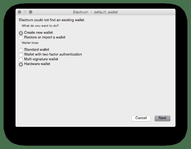 Cara Menggunakan TREZOR di Software Electrum