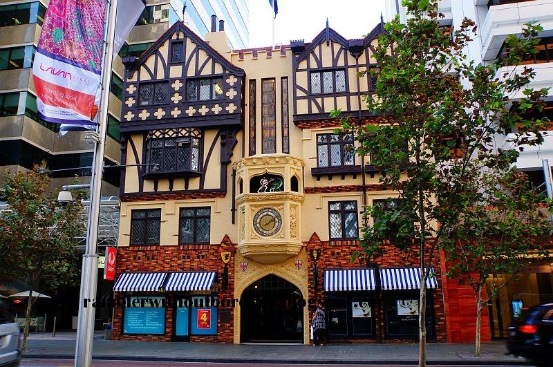 London Court entrance at St Georges Terrace, Perth, WA, Australia