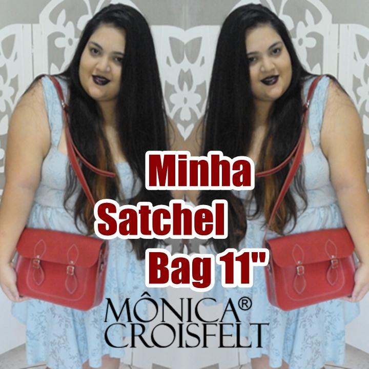 a6f7fe49c Bolsa Satchel (carteiro) - Mônica Croisfelt - Doce feito pimenta ...