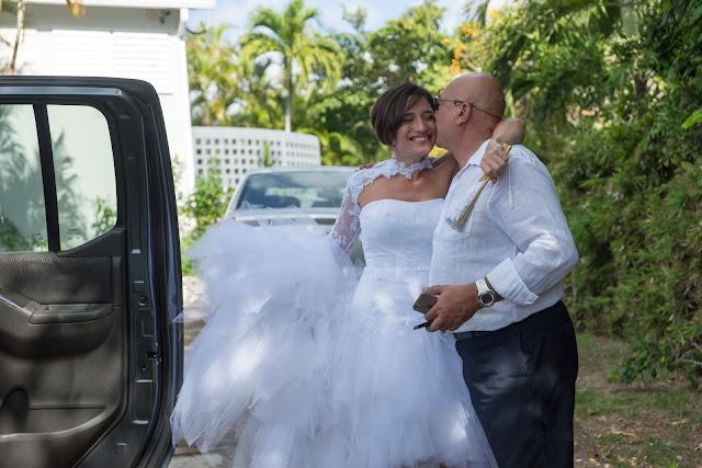 mariage toubana guadeloupe départ mariée