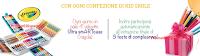 Logo Vinci 280 valigette Crayola e feste per il tuo bambino