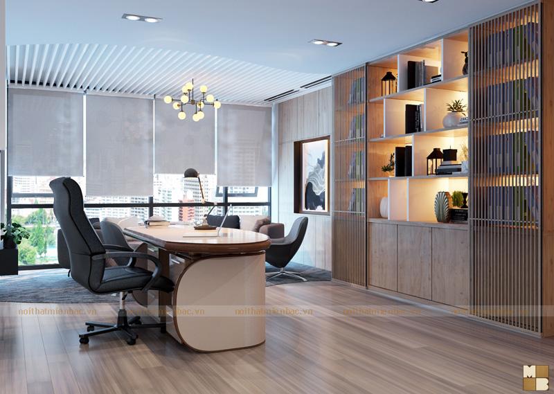 Thiết kế phòng giám đốc với nội thất hiện đại