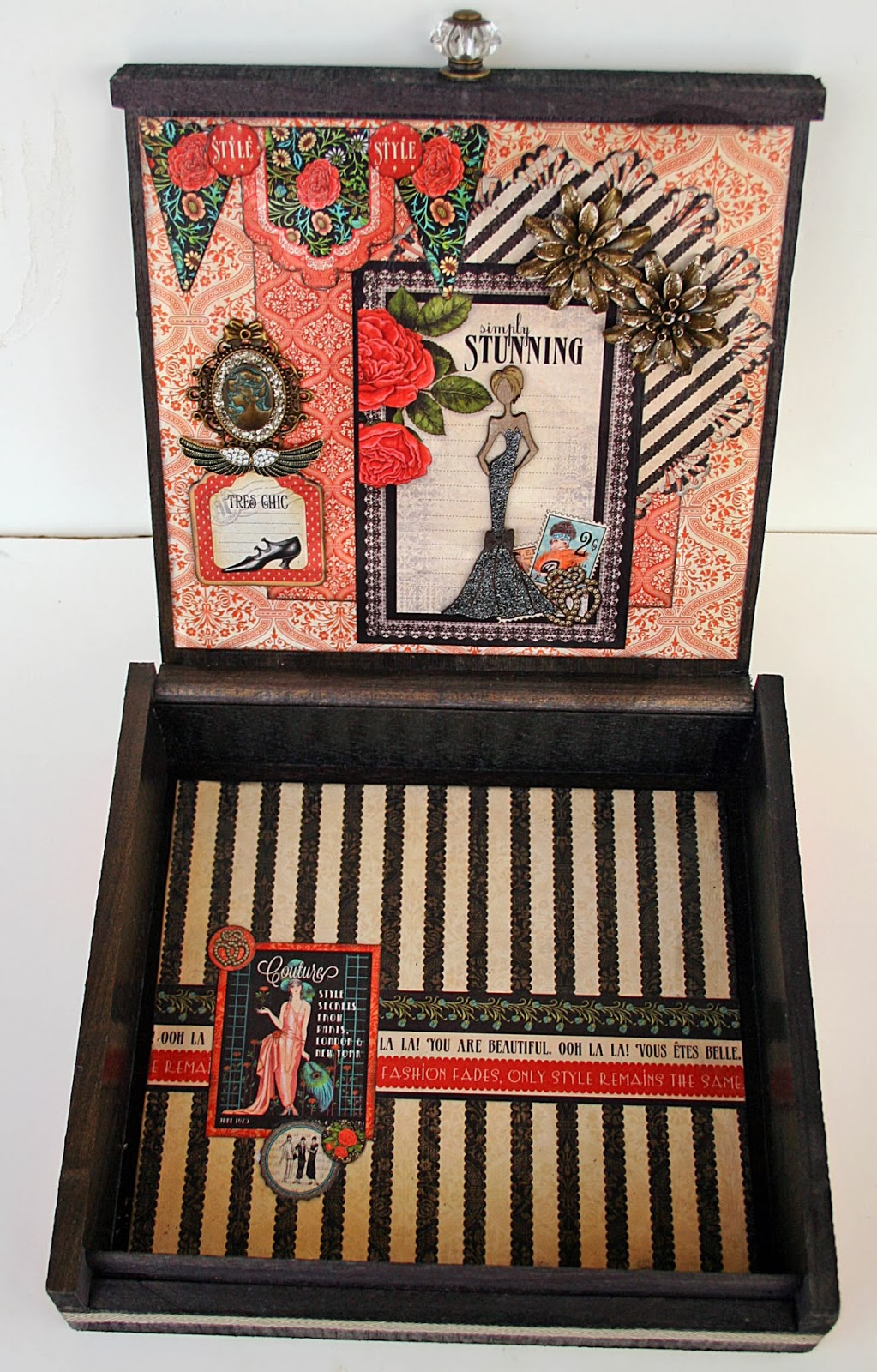Leaky Shed Studio: An altered cigar box, flower corner ...