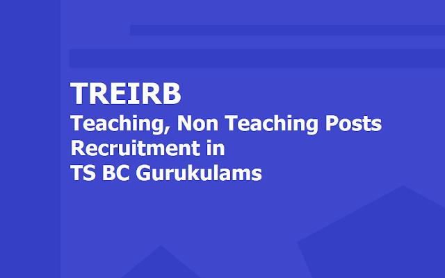 TREIRB to fill 1698 Teaching, Non Teaching Posts in TS BC Gurukulams 2019