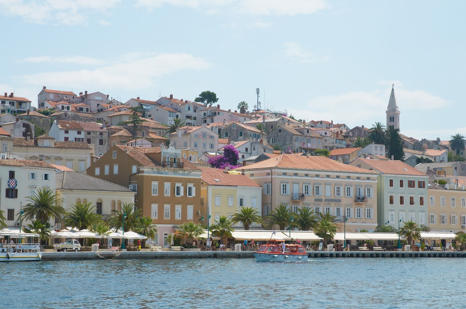 widok na zatokę Chorwacja, Malij Losinij
