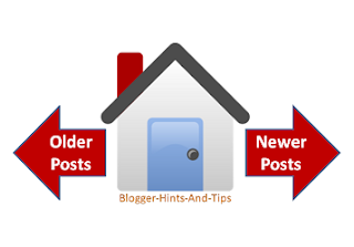 How to Replace the Older Post and Newer Post links in Blogger
