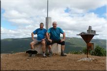 San Vitores mendiaren gailurra 895 m.  --  2016ko abuztuaren 21ean
