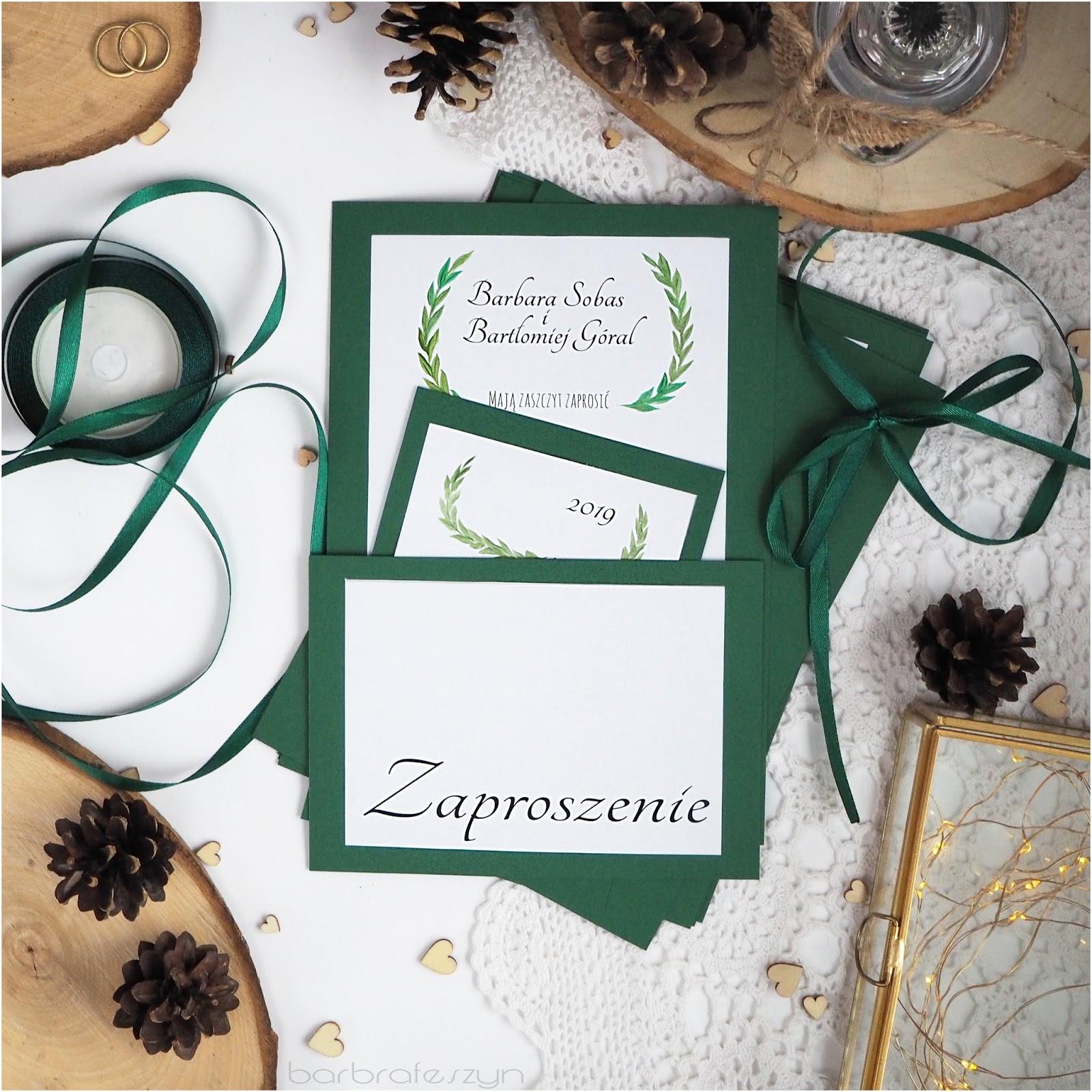 Jak Zrobić Zaproszenia ślubne Barbrafeszyn Blog O Paznokciach