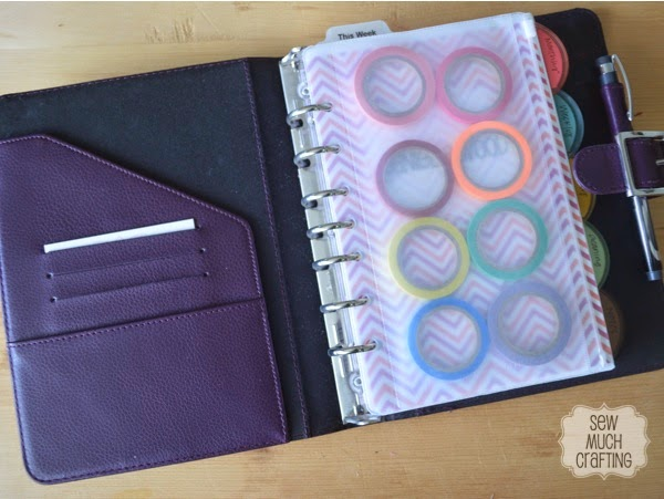 Use a pencil pouch to carry your washi tape! {{Planner Organization}}