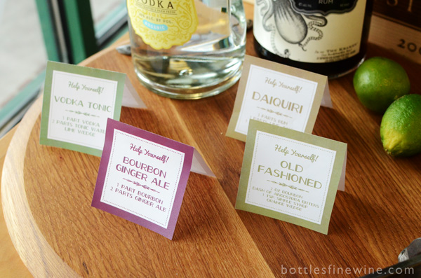 free printable download cocktail recipe signs