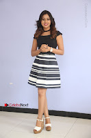 Actress Mi Rathod Pos Black Short Dress at Howrah Bridge Movie Press Meet  0099.JPG