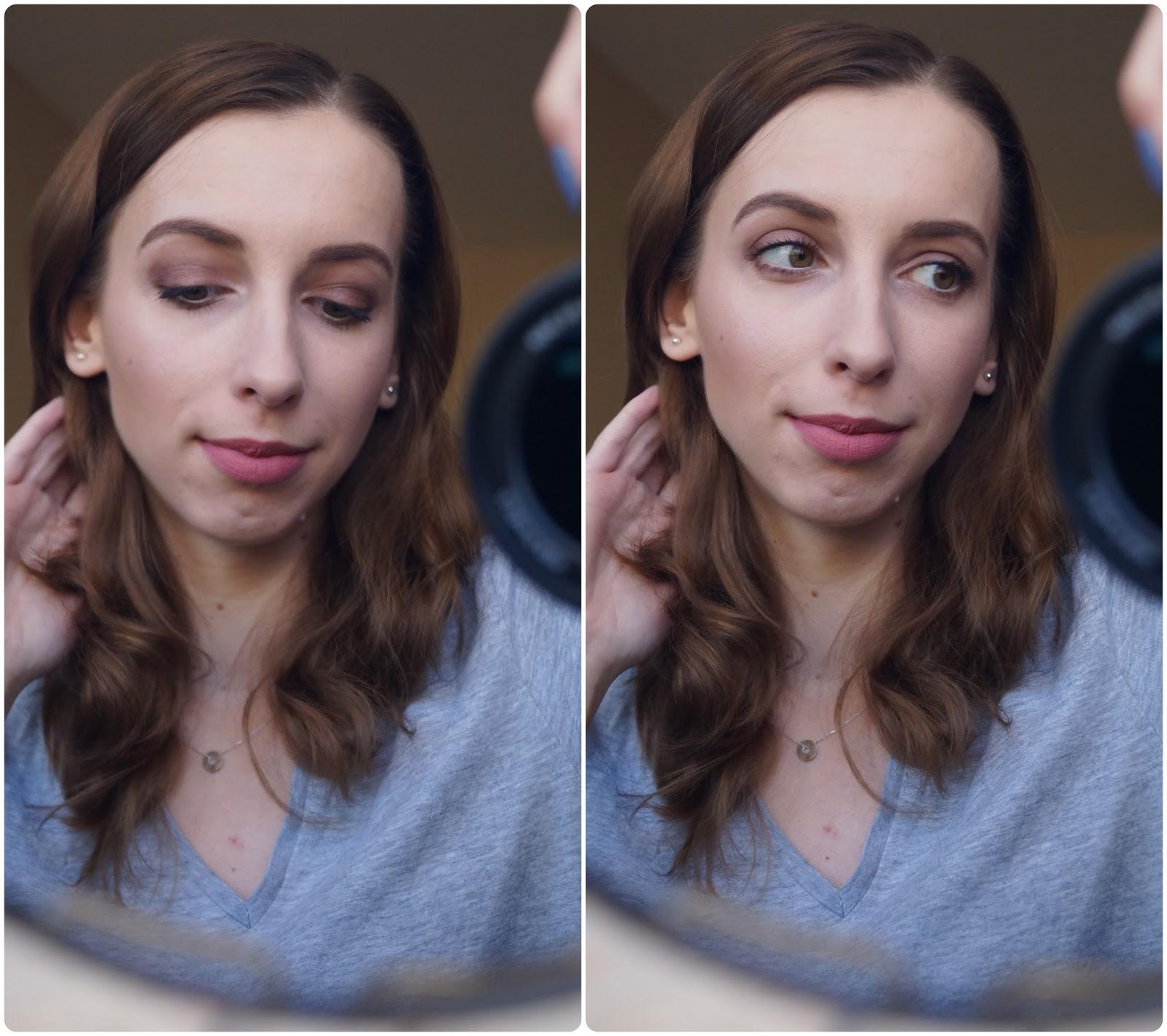 Delikatny makijaż z mocniejszym okiem na święta - moja wersja