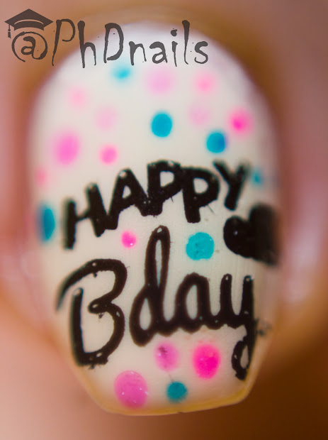 "phd nails ""happy birthday"" nail"
