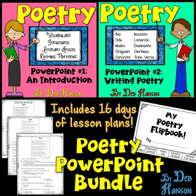 Poetry Bundle for upper elementary and middle school classrooms!