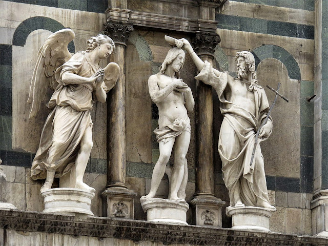 Angel by Innocenzo Spinazzi, Jesus and John the Baptist by Andrea Sansovino, Battistero di San Giovanni, Florence