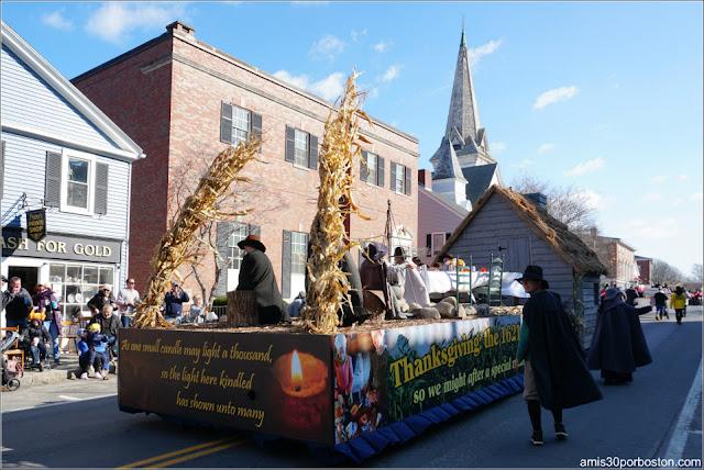 Primera Cena en el Desfile de Acción de Gracias de Plymouth
