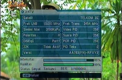Info Frekuensi ANTV Terbaru