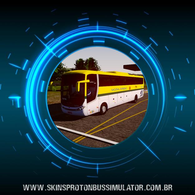 Skin Proton Bus Simulator - Comil Campione 3.65 VW 18.330 Euro V Nacional Expresso