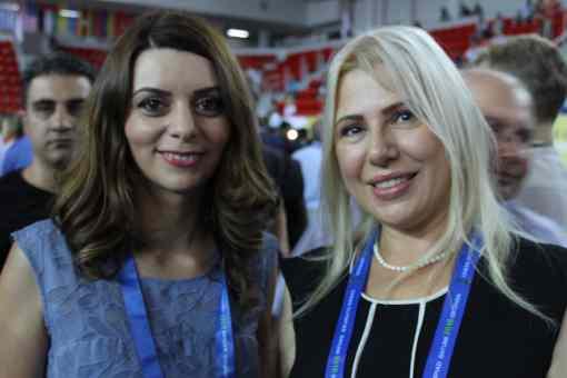 Nino Maisuradze et Susan Polgar aux Olympiades d'échecs de Batoumi - Photo © Chess & Strategy