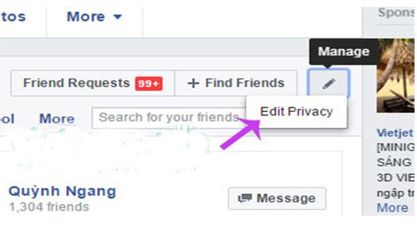 An thong bao theo dõi nguoi khac tren facebook