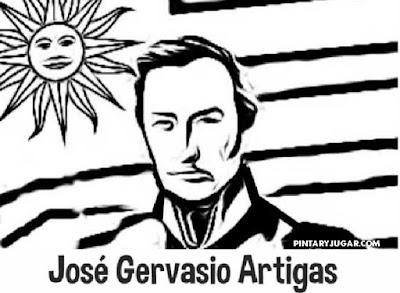 colorear José Gervasio Artigas