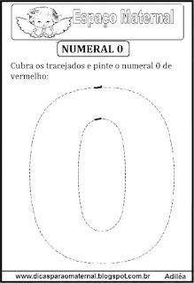 Numeral 0 pontilhado