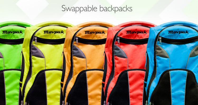 MovPak - Opções de cores das mochilas do skate elétrico