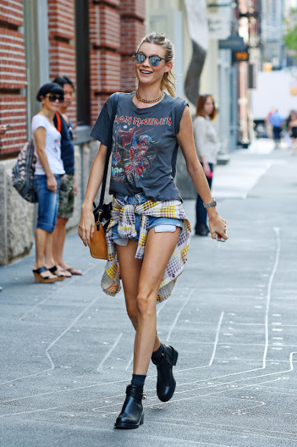 Celebrities denim shorts: 27 New Ways to Style Your Denim Cutoffs