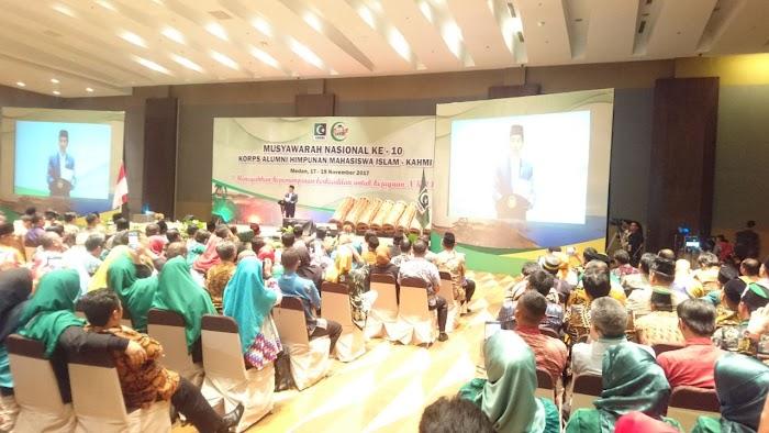 Jokowi Resmi Membuka Munas Ke-10 KAHMI di Medan