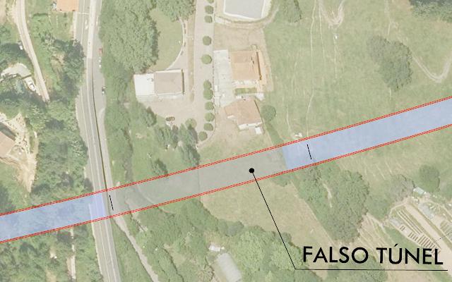 Plano de la zona por la que está previsto el paso del tren en Gorostiza