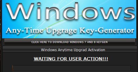 Windows 7 Key Generator >> Windows 7 Anytime Upgrade Key Windows 7 Anytime Upgrade Key