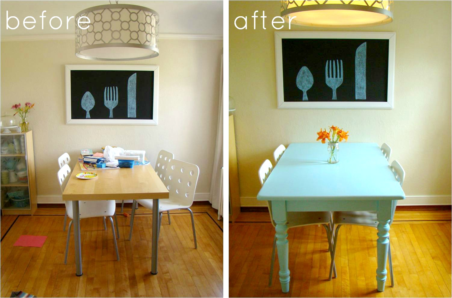 oak tables painting kitchen table best images about OAK TABLES on Pinterest Table and chairs Painted chairs and Solid oak table